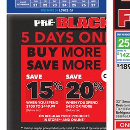 Flyers - Lowe's Canada Local Ads & Coupons