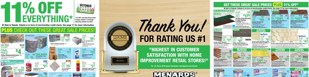 Menards 11 Rebate Sale Oct 14 To Oct 20
