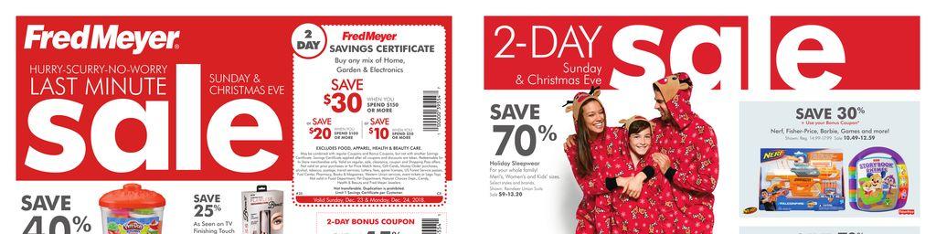 Fred Meyer 4-Day Sale - Dec 21 to Dec 24