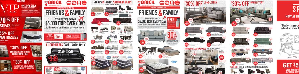 The Brick Friends & Family Sale - Jan 31 to Feb 14