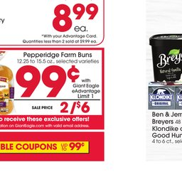 Giant Eagle Weekly Specials - Aug 29 to Sep 04