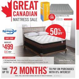Great Canadian Mattress Sale