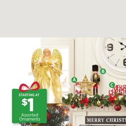 Holiday finds priced right.