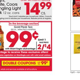 Giant Eagle Weekly Specials - Sep 05 to Sep 11