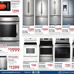 Latest Flyer Top Brand Appliances Coast Wholesale Appliances