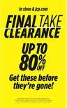 Final Take Clearance