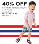 Carter's Toddler Boys' 2-Pc. Sets
