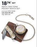 Men's Two-Tone Pocket Watch Set