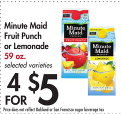 Minute Maid Fruit Punch or Lemonade
