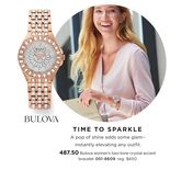Bulova Women's Two-Tone Crystal Accent Bracelet