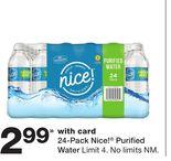 24-Pack Nice!® Purified Water