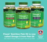 Finest® Nutrition Fish Oil is now called Omega-3 from Fish Oil