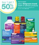 mix & match select Walgreens brand health & wellness products