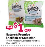 Nature's Promise Shellfish or Steakfish