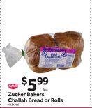 Zucker Bakers Challah Bread or Rolls