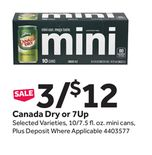 Canada Dry or 7Up