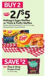 Kellogg's Eggo Waffles or Thick & Fluffy Waffles