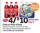 Coke or Polar 6 Pack