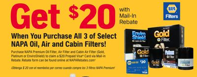 NAPA Oil, Air and Cabin Filters!