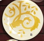 Gold Scroll Appetizer Plates
