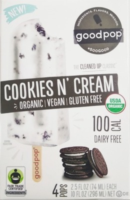 GoodPop ColdBrew or Cookies n' Cream Pops