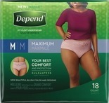 Poise or Depend Pads, Guards, Shields or Underwear