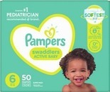 Pampers or Luvs Giant Diapers