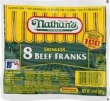 Nathan's Angus or Beef Franks