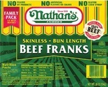 Nathan's Family Pack Beef Franks