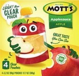 Mott's Snack & Go Pouches or Applesauce Cups