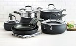 11-pc Hard-Anodized Nonstick Cookware Set