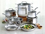 Contour 13-pc. Stainless Steel Cookware Set