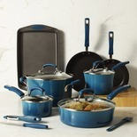 Rachael Ray 14-Pc. Hard-Enamel Nonstick Cookware Set