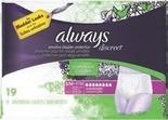 Always Discreet Pads or Underwear