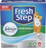 Fresh Step Litter, Meow Mix and Fancy Feast or Cat Chow