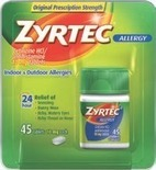 Zyrtec, Claritin 24-Hour or Children's