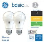 Select GE Light Bulbs