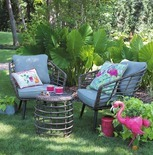 Outdoor Oasis Sanibel 3-Pc. Wicker Patio Chat Set