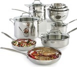 Cuisinart Chef's Classic 11-Pc. Stainless Steel Set With Bonus 3-Pc. Bowl Set