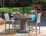 Outdoor Oasis Santa Catarina 5-pc. Deluxe Wicker Patio Bar Set