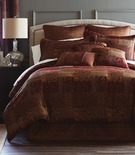 Croscill Classics Catalina Red 4-pc. Chenille Queen Comforter Set