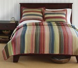Retro Chic Cotton Striped Full/Queen Quilt